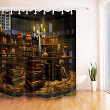 Frankenstein Laboratory Shower Curtain Set Halloween Bath Mat Waterproof Fabric