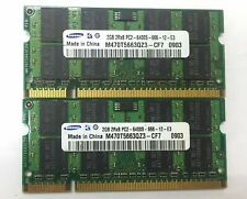 MEMORIA RAM 4GB (2x2GB) DDR2 PC2-6400 800Mhz SODIMM PORTATIL 200PIN INTEL AMD