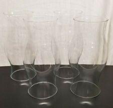 "Vtg HUGE CLEAR GLASS CANDLE HURRICANE 11.5"" x 4.75""modern PILLAR Wedding Decor"