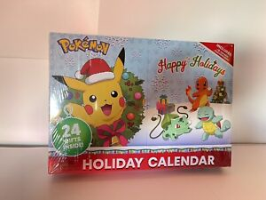 Pokemon Holiday / Advent Calendar 24 Gifts! 16 Figures, 6 Accessories - NEW!