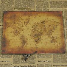 Vintage Navigational Chart Poster Kraft paper FREE SHIPPING