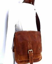Genuine Natural Tanned Leather Bag Messenger Handbag Men and Women Shoulder bag