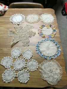 Vintage collection 8 of fancy doilies