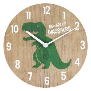 Dinosaur Clock  Kids Children Wall Clock Boys' room Clock, Nursery Wall Decor