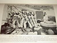 1896 Hasta Ancla On Battleship Majestic Marineros Azul Marino