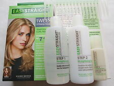 2 EASYSTRAIGHT STRAIGHT HAIR STYLING SOLUTIONS KITS (8PCS) RARE FREE SHIPPING US