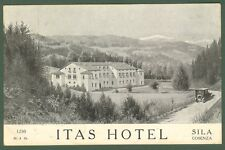 (Calabria - Cosenza) Sila. ITAS HOTEL. Cartolina  pubblicitaria dell'hotel, 1928
