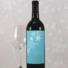 24 Winter Finery Personalized Wedding Wine Bottle Labels