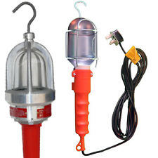 240V INSPECTION LIGHT LAMP WORK LIGHT SILVERLINE HAND 5M CABLE GARAGE EXTENSION