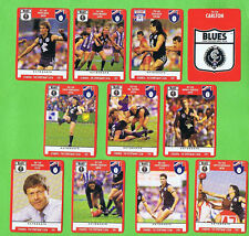 1991  CARLTON BLUES  AFL FOOTBALL  CARDS