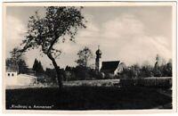 Ansichtskarte Riederau am Ammersee - Blick auf die Kirche - schwarz/weiß
