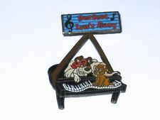 Retired Disney Pin✿Perfect Isn't Easy Oliver Piano Music Notes Kitten Dodger Dog