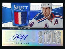 MARC STAAL 2013-14 SELECT STARS JERSEY AUTOGRAPH PRIME PRIZM AUTO 04/10