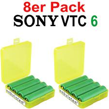 8x Sony Konion VTC6 18650 US18650VTC6 3120 mAh, 30A, inkl. 2 VTC6 Boxen