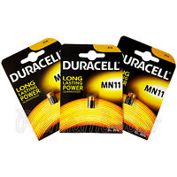 3 x Duracell Alkaline MN11 6V batteries E11A A11 WE11 CX21A L1016 Remote Alarms