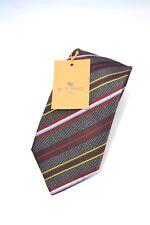ETRO Designer SEIDEN Krawatte corbata TIE Tuch NEU brand NEW 125€ grün diagonal