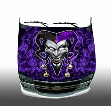 Evil Clown Jester Hood Wrap Wraps Sticker Vinyl Decal Graphic