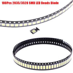 100Pcs 2835/3528 Chips SMD LED Beads 1W 3V Cold White Light For TV LED Dio SA