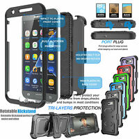 For Samsung Galaxy J3 Luna Pro / J3 Emerge Phone Cover +Belt Clip Holster Case