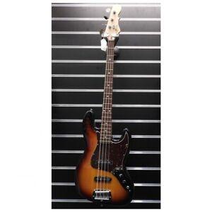 G&L JB-4 3-Tone Sunburst Electric Bass C/w Hard Case - USA Made