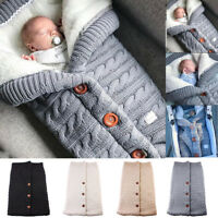 Winter Newborn Baby Warm Swaddle Knitted Sleeping Bag Sleep Sack Stroller Wrap