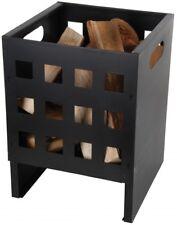 Accessoire Foyer de Cheminée Vasque à Feu Rectangulaire Noir Fer 30x30x40cm Neuf