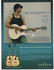 2006 PARKWOOD 310M, 370M Acoustic Guitar GREG HOWE Vtg Print Ad