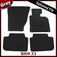 BMW X3 E83 2003-2010 4-eyelets Tailored Carpet Car Floor Mats GREY