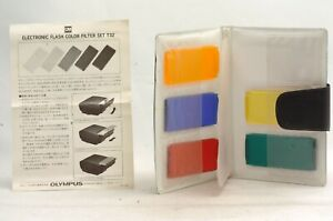 @ Ship in 24 Hours @ Rare @ Olympus OM Color Filter Set for Electronic Flash T32