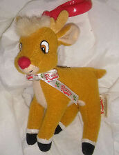 """3""""x3"""" 1999 Rudolph Reindeer Plush With Clip"""