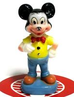 "Walt Disney MICKEY MOUSE 6"" Tall Hard Plastic Vintage Figure Toy Figurine"
