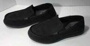 Crocs Men's Sante Cruz 2 Luxe Leather M Slip-on Loafer Black/Black, 7 M US