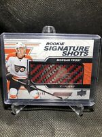 2019-20 Upper Deck Engrained Morgan Frost Signature Shots Rookie Auto /99 Flyers