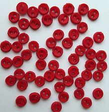 Rouge Micro Mini Round-Noël Tiny Doll Dress It Up Craft Sewing Boutons