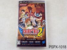Fairy Tail Portable Guild 2 PSP Japanese Import JP Japan Region Free US Seller B
