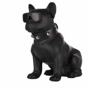 Wireless French Bulldog Bluetooth + FM Radio Speaker Black