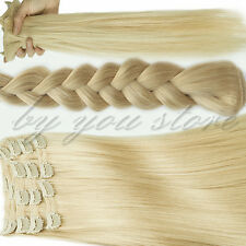 Very Thick Clip in Remy Real Human Hair Extensions Top Full Head 8 Pieces BS464