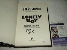 Steve Jones Signed 1st Edition Hardback Book Lonely Boy JSA #S98911 Sex Pistols