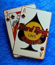 LAS VEGAS Hard Rock Cafe BLACK JACK ACE & JACK of SPADES 21 WINNING HAND PIN