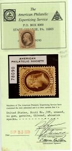 UNITED STATES--Individual Stamp Scott #188 with Certificate