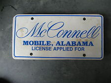 MCCONNELL MOBILE ALABAMA AL AUTO SALES  DEALERSHIP BOOSTER LICENSE PLATE