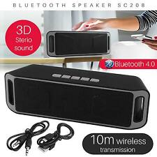 Boombox Estéreo Bluetooth SC208 Bass TF RADIO FM AUX REPRODUCTOR Mp3 Altavoz Amplificador