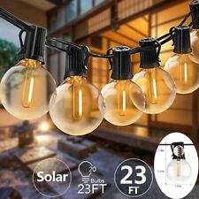 Solar Festoon Globe String Lights G40 20 Bulbs Wedding Party for Indoor/Outdoor