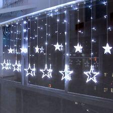 168 LED Stern Lichterkette Lichtvorhang Weihnachtsdekoration Außen Innen Lichter