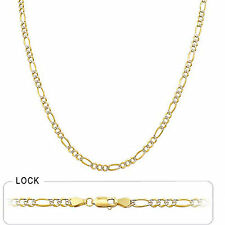 "3.70 mm 16"" 7.50 gm Solid 14k Yellow Gold Women's Men's Figaro Necklace Chain"