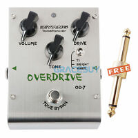Biyang OD-7 Overdrive Guitar Effect Pedal for Ibanez Tube Screamer & 1 Connector