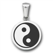 Stainless Steel YIN YANG Pendant Charm Dual Toned Ying Chinese Symbol