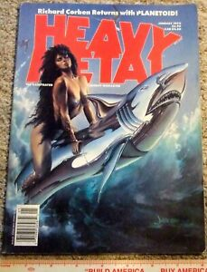 Heavy Metal Magazine January1992 Vol XV # VI