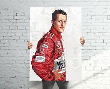New listing Michael Schumacher Ferrari F1 Poster, Banner, Formula 1 Fan, Kids Wall Decor