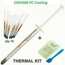 10 x HY750 Silver 0.5g Slim Tube Thermal Grease Paste for CPU VGA LED 3.93 W/m-k